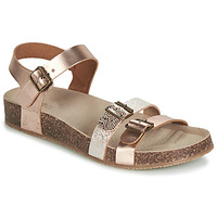 Schoenen Meisjes Sandalen / Open schoenen GBB BIGA Roze / Gold / Goud