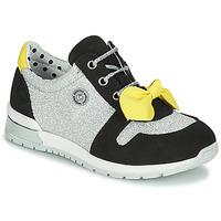 Schoenen Meisjes Lage sneakers Catimini BANJO Zilver / Zwart