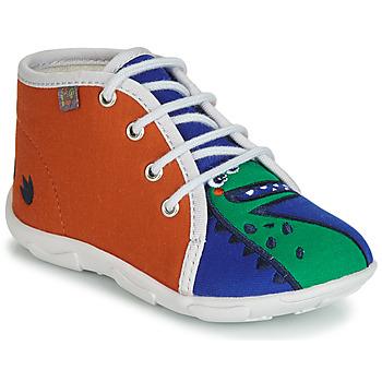 Schoenen Jongens Sloffen GBB MARCCO Orange / Blauw