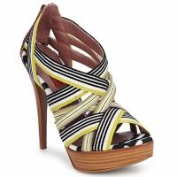 Schoenen Dames Sandalen / Open schoenen Missoni RM20 Geel / Wit