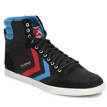 Schoenen Heren Hoge sneakers Hummel TEN STAR HIGH CANVAS Zwart / Blauw / Rood