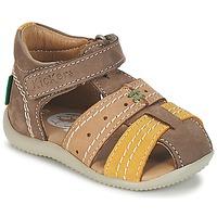 Schoenen Jongens Sandalen / Open schoenen Kickers BIGBAZAR Brown / Beige / Geel