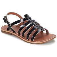 Schoenen Meisjes Sandalen / Open schoenen Kickers DIXMILLION Zwart / VERNIS