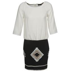 Textiel Dames Korte jurken One Step RAMBOUTAN Wit / Zwart