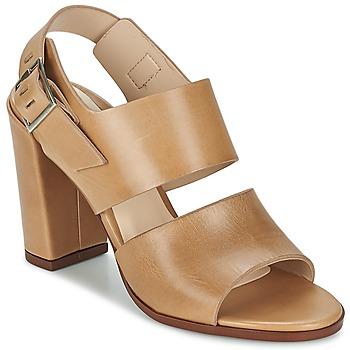 Schoenen Dames Sandalen / Open schoenen Dune CUPPED BLOCK HEEL SANDAL Beige