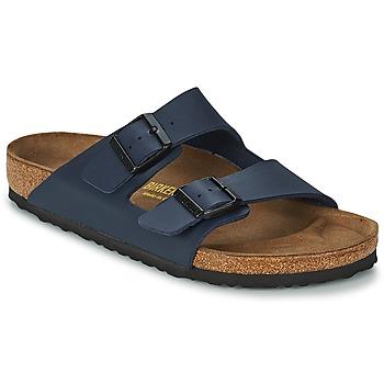 Schoenen Heren Leren slippers Birkenstock ARIZONA LARGE FIT Blauw