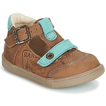 Schoenen Jongens Sandalen / Open schoenen GBB AREZO Brown / Blauw