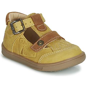 Schoenen Jongens Sandalen / Open schoenen GBB AREZO Mosterd