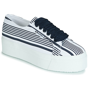 Schoenen Dames Lage sneakers Superga 2790 COT MULTI STRIPE W Wit