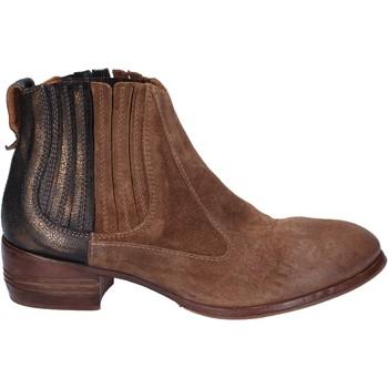 Schoenen Dames Enkellaarzen Moma tronchetti marrone camoscio bronze pelle BT16 Marrone