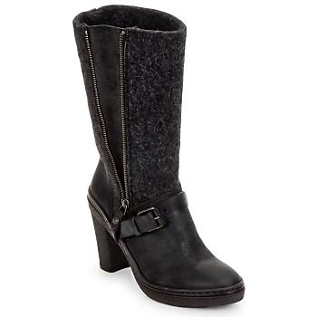 Schoenen Dames Hoge laarzen Buttero MERENS Zwart / Grijs