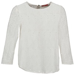 Textiel Dames T-shirts met lange mouwen Esprit VASTAN Wit