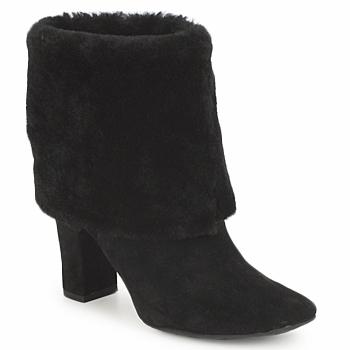 Schoenen Dames Enkellaarzen Rockport HELENA CUFFED BOOTIE Zwart