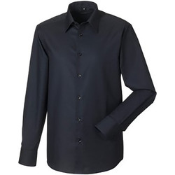 Textiel Heren Overhemden lange mouwen Russell 922M Zwart
