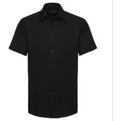 Textiel Heren Overhemden korte mouwen Russell 923M Zwart