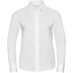 Textiel Dames Overhemden Russell Oxford Wit