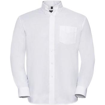 Textiel Heren Overhemden lange mouwen Russell 932M Wit