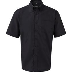 Textiel Heren Overhemden korte mouwen Russell 933M Zwart