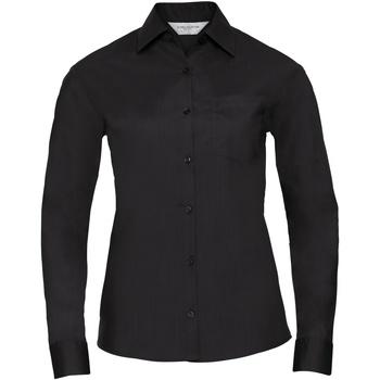 Textiel Dames Overhemden Russell 934F Zwart
