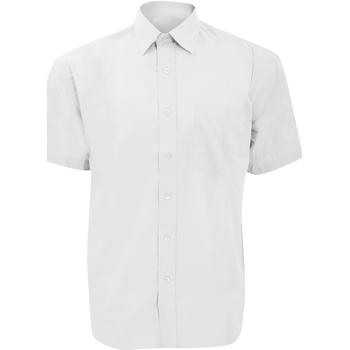 Textiel Heren Overhemden korte mouwen Russell 935M Wit