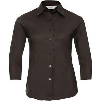 Textiel Dames Overhemden Russell 946F Chocolade