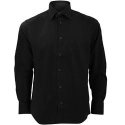 Textiel Heren Overhemden lange mouwen Russell 946M Zwart