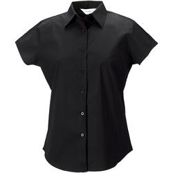 Textiel Dames Overhemden Russell 947F Zwart