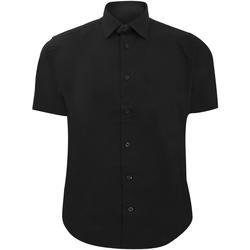 Textiel Heren Overhemden korte mouwen Russell 947M Zwart