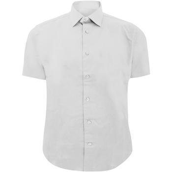 Textiel Heren Overhemden korte mouwen Russell 947M Wit