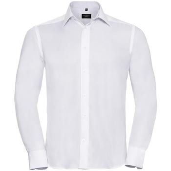 Textiel Heren Overhemden lange mouwen Russell 956M Wit
