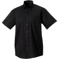 Textiel Heren Overhemden korte mouwen Russell 957M Zwart