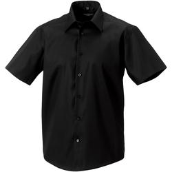 Textiel Heren Overhemden korte mouwen Russell 959M Zwart