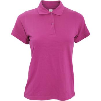 Textiel Dames Polo's korte mouwen B And C PW455 Fuchsia