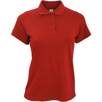 Textiel Dames Polo's korte mouwen B And C Safran Rood
