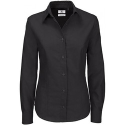 Textiel Dames Overhemden B And C Oxford Zwart