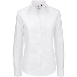 Textiel Dames Overhemden B And C Oxford Wit