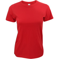 Textiel Dames T-shirts korte mouwen B And C Exact 190 Rood