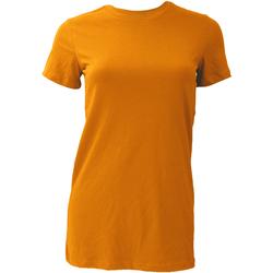 Textiel Dames T-shirts korte mouwen Bella + Canvas BE6004 Oranje