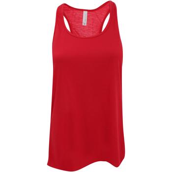 Textiel Dames Mouwloze tops Bella + Canvas Flowy Rood