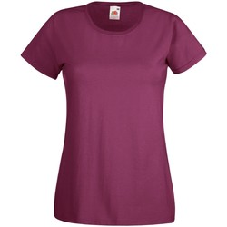 Textiel Dames T-shirts korte mouwen Fruit Of The Loom 61372 Bordeaux