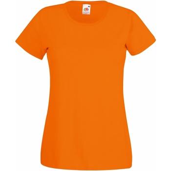 Textiel Dames T-shirts korte mouwen Fruit Of The Loom 61372 Oranje