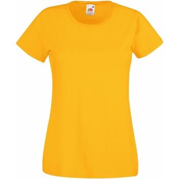 Textiel Dames T-shirts korte mouwen Fruit Of The Loom 61372 Sunflower
