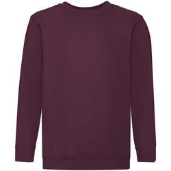 Textiel Kinderen Sweaters / Sweatshirts Fruit Of The Loom 62041 Bordeaux