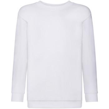 Textiel Kinderen Sweaters / Sweatshirts Fruit Of The Loom 62041 Wit