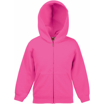 Textiel Kinderen Sweaters / Sweatshirts Fruit Of The Loom Hooded Fuchsia