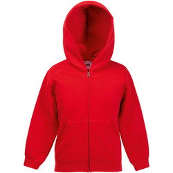 Textiel Kinderen Sweaters / Sweatshirts Fruit Of The Loom Hooded Rood