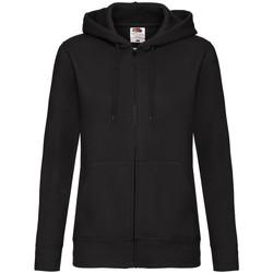 Textiel Dames Sweaters / Sweatshirts Fruit Of The Loom Hooded Zwart