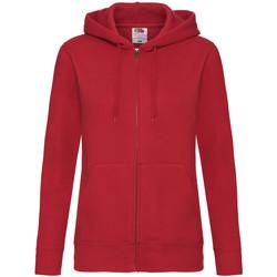 Textiel Dames Sweaters / Sweatshirts Fruit Of The Loom Hooded Rood