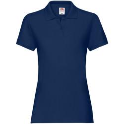 Textiel Dames Polo's korte mouwen Fruit Of The Loom Premium Marine