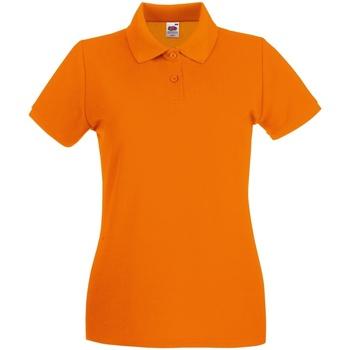 Textiel Dames Polo's korte mouwen Fruit Of The Loom Premium Oranje